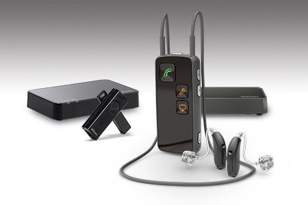 Full Oticon Connectline system including Microphone